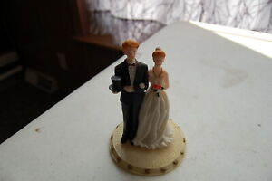 "Vintage Wedding Cake Topper K's Collection ""Wedding Ferries"" Ltd Ed"