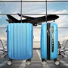 Trolley Rigido Da Viaggio Bagaglio a Mano Blu Voli Ryanair EasyJet 55x35x20 cm
