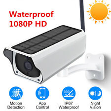 2MP Outdoor Solar Waterproof Wireless WiFi 1080P Security IP Camera Night Vision