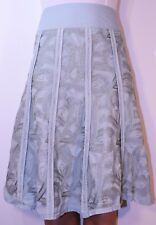 Monsoon Flare Embroidered Green Skirt Silk Blend Size 8 Holiday Summer Party AT