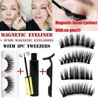 Magnetic liquid Eyeliner False Eyelashes Tweezer 3 Pcs/Set Eye Lashes Waterproof