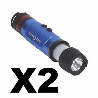 Nite Ize Radiant 3-in-1 LED Mini Flashlight Blue Safety Light 80 Lumens (2-Pack)