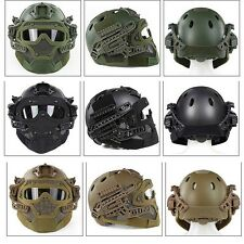 Outdoor Protective Tactical Helmet Airsoft Paintball Tactical Face Mask Black