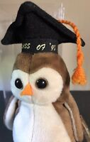 TY Beanie Baby Wise 1998 Retired With Many Errors On Tags. RARE COLLECTABLE NEW!