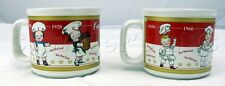 Houston Harvest 2001 Campbell's Soup Ceramic Collectible Mugs - Set of 2 - 3.25""