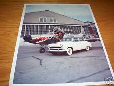 HUDSON JET Car with FIGHTER JET PLANE, 8x10 PRESS PHOTO, BROCHURE