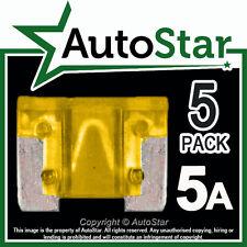 5 Amp Micro Fusibles X 5 – Automotriz Fusible-de bajo perfil, Mini, APS, att 5a 5amp un