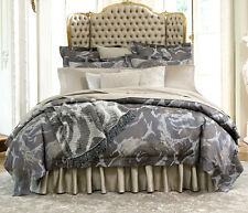 Sferra Roseto F/Queen Duvet Cover Egyptian Cotton Sateen Jacquard New