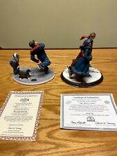 Norman Rockwell Figurines 'Skater's Waltz' and 'Figure 8' Lot Of 2
