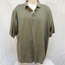 Bobby Jones Golf Tan Black Diamond Polo Shirt Size XXL