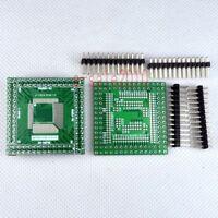 2pcs QFP/EQFP/TQFP/LQFP 80P to 100P SMT to DIP Adapter PCB Board Converter E17