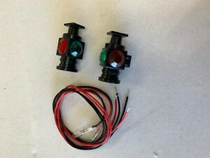 USA TRAINS R2083 WORKING MARKER LIGHTS SET OF 2 FITS ARISTO,  BACHMANN, LGB, ALL