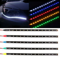 2pcs Car Decor 12V 12 LED 30cm 5050 SMD Strip Flexible Light Car Accessories W