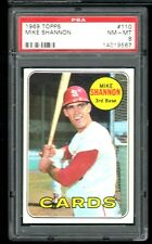 1969 Topps #110 MIKE SHANNON Cardinals PSA 8 NM/MT
