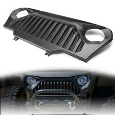 For Jeep Wrangler 1997-2006 TJ Front Gladiator Mesh Grille Grill in Matte Black