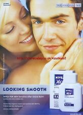 "Nivea For Men Sensitive Balm ""Looking Smooth"" 2003 Magazine Advert #74"