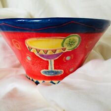 Fiesta by Farida Zamar Ambiance Collection Red Bowl Hand Painted
