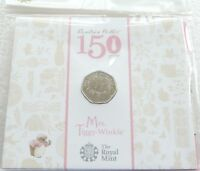 2016 Royal Mint Beatrix Potter Mrs Tiggy-Winkle 50p Fifty Pence Coin Pack Sealed