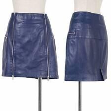 McQ Alexander McQUEEN leather zip design skirt Size 40(K-29953)
