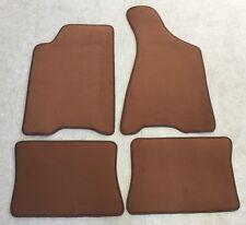 Autoteppiche Fußmatten für Audi 80 90 B3 quattro Cognac Velours 4teilig Neuware