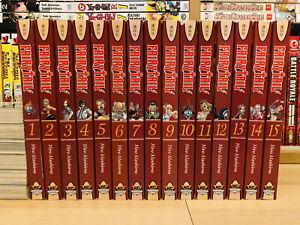 FAIRY TAIL 1-15 Manga Set Collection Complete Run Volumes ENGLISH RARE