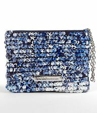 Wristlet BCBGeneration Bailey Wristlet Wallet Blue All Over Sequin NEW NWT