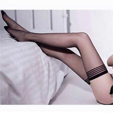 Fashion Sexy Fancy Women Black Lace Top Stay Up Thigh-Highs Stockings Tights XJ
