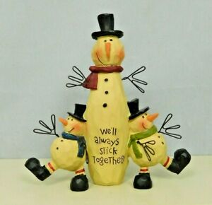 Snowman with two smaller snowmen on his side - New Blossom Bucket #80551C