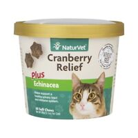 NaturVet Cranberry Relief and Echinacea Cat Soft Chew Urinary Tract 60 ct