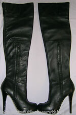TOPSHOP  100% REAL LEATHER BARLEY THIGH HIGH BOOTS UK SIZE 5 E 38 US 7
