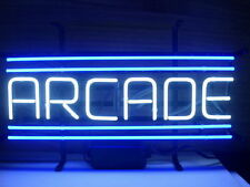 """New Arcade Game Room Blue Neon Light Sign 20""""x10"""""""