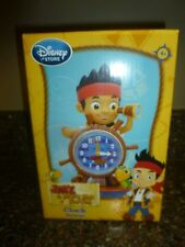 "Disney Store Jake and the Never Land Pirates Clock 7.5"" Skully BNIB"