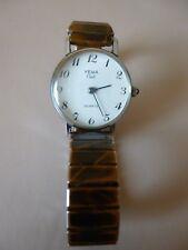 Ancienne petite montre femme mécanique dorée   YEMA CLUB   bracelet extensible