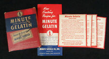 Antique Vintage 1942 WWII Era Minute Plain Unflavored Gelatin, NIB, COMPLETE