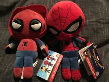 2 different Funko Hero Plushies Marvel New Spiderman Action Figure