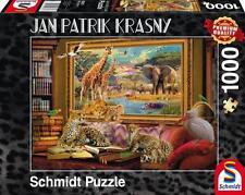 SCHMIDT JIGSAW PUZZLE SAVANNAH COMING TO LIFE JAN PATRIK KRASNY 1000 PCS #59335