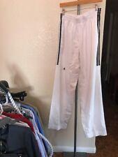 Vintage Addidas Mens White Stripe Pants Size 7 210cm Box J