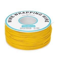 1000Ft Circuit Board JTAG Tin-Plated Copper Wire 0.25mm 30AWG Yellow