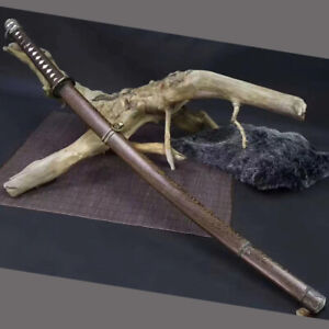 Japanese 98 saber Official Knife Handmade Folded Steel Samurai Katana Sword