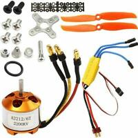 A2212 2200KV Brushless Motor + 30A ESC Kits For RC Plane New Helicopter H6A5