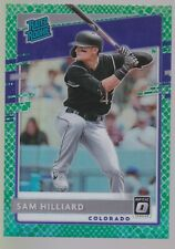 2020 Donruss Optic Choice SAM HILLIARD RATED ROOKIE Green Dragon Prizm #/84