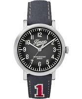 Watch Timex TW2P92500 black leather originals university man woman sports casual