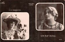POSTCARD  ACTRESSES PAULINE CHASE & HILDA HAMMERTON