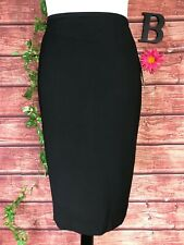 Le Suit Yatch Club Skirt size 8 Classic Black Straight Knee Career Church Suit