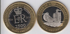 SOMALILAND 2500 Shillings 2016 Birds, Solomon 90th Elizabeth, 2nd set