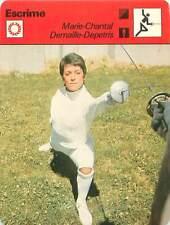 FICHE CARD: Marie-Chantal Depetris-Demaille France Fleuret FENCING ESCRIME 1970s