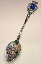 "Hand Enameled Souvenir Spoon, 800 fine, ""Weisbaden Theater"" Germany"