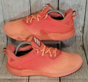 Adidas Women's Alphabounce EM Easy Coral/Sun Glow Athletic Shoes - BY3223 Size 9