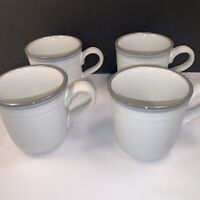 4 NORITAKE MUG CUPS ''SIERRA TWILIGHT'' STONEWARE JAPAN