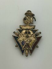 Vintage Knights Of Pythias, FBC Gold Filled Fob W/ Moving Face Mask #224